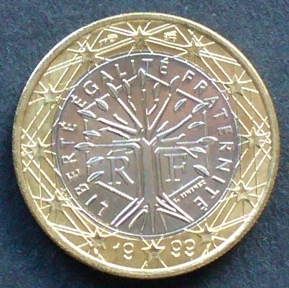 1 Euro 1999 Frankreich S657 Bime Baum Im Sechseck Fdc Ma Shops