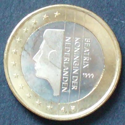 1 Euro 1999 Niederlande S1231 Bime Königin Beatrix Spl Ma Shops
