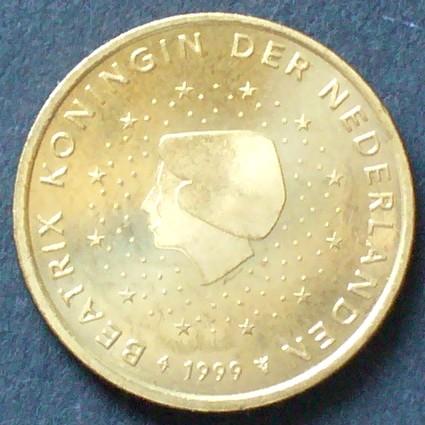 50 Cent 1999 Niederlande S1221 Al Bro Königin Beatrix Zwölf
