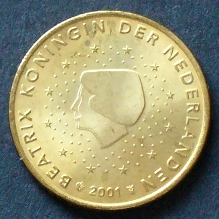 50 Cent 2001 Niederlande S1223 Al Bro Königin Beatrix Zwölf
