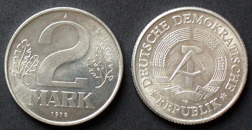 2 Mark 1975 A Ddr S16 Al Staatswappen Wert Zwischen