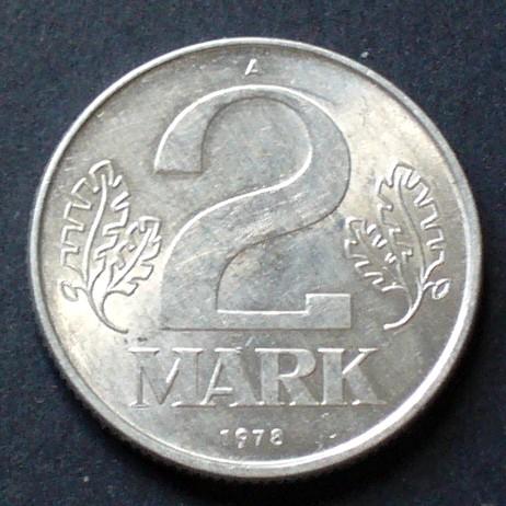 2 Mark 1978 A Ddr S16 Al Staatswappen Wert Zwischen