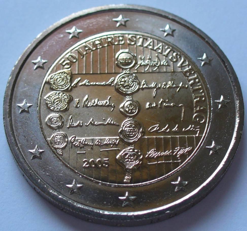 2 Euro 2005 österreich S319 Bime 50 Jahre Staatsvertrag Fdc