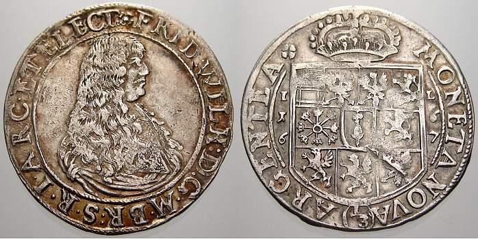 13 Taler 1667 Brandenburg Preußen Friedrich Wilhelm Der Große