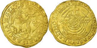 Niederlande Gold Angel Thorn VZ Münze, LIMBOURG, M