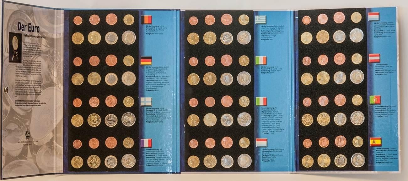 12 X Kursmünzsatz 1 Cent 2 Euro 4656 1999 2002 Europa 12