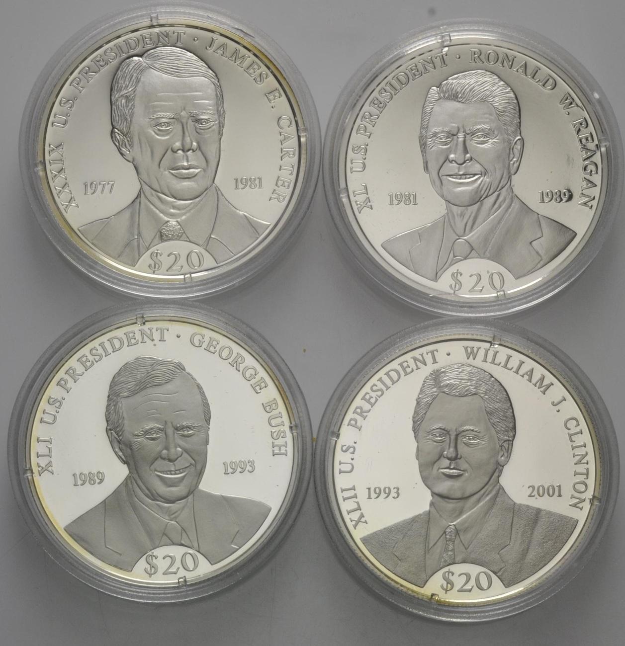 20 Dollars 2000 Liberia Präsidenten Der Vereinigten Staaten Von