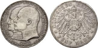 Hessen, 5 Mark 1904, kl.Rdf., st Ernst Ludwig, 189