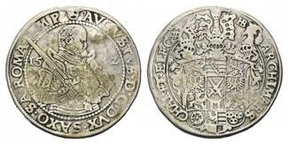 Sachsen, Reichstaler 15__ HB, ss August, 1553-1586