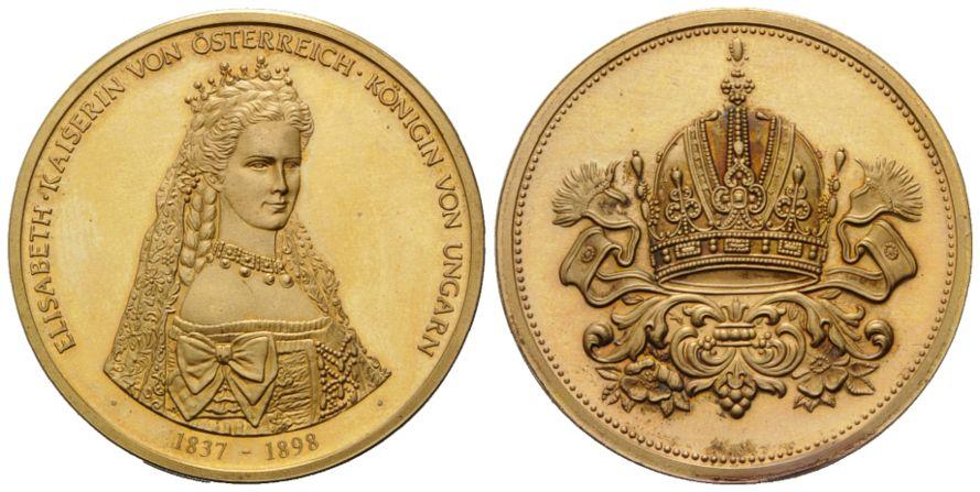 Goldmedaille Oj österreich Elisabeth Kaiserin Von österreich
