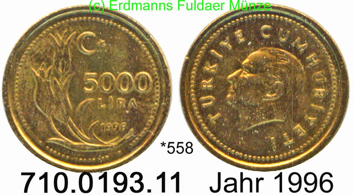 5000 Lira 1996 Turkey Türkei 558 Km1029 Fdc Ma Shops