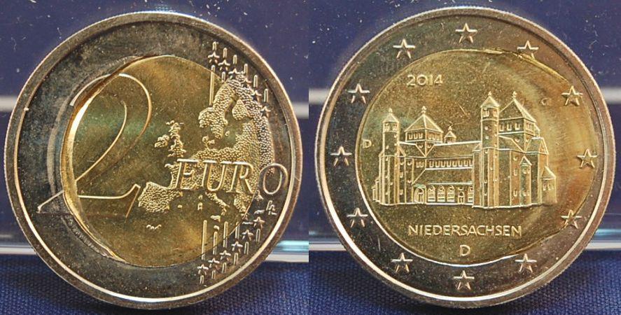 2 Euro Deutschland Pille Stark Versetzt 2014 D Deutschland 2 Euro