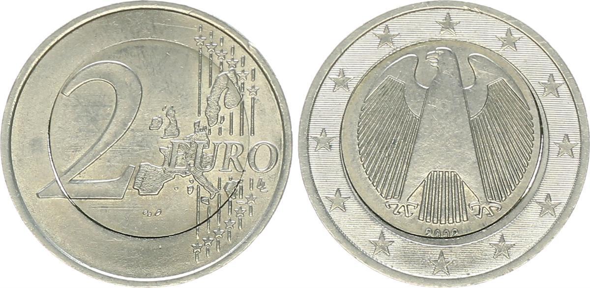 2 Euro Fehlprägung Mit 1 Pille 2002 J Deutschland Fehlprägung 2