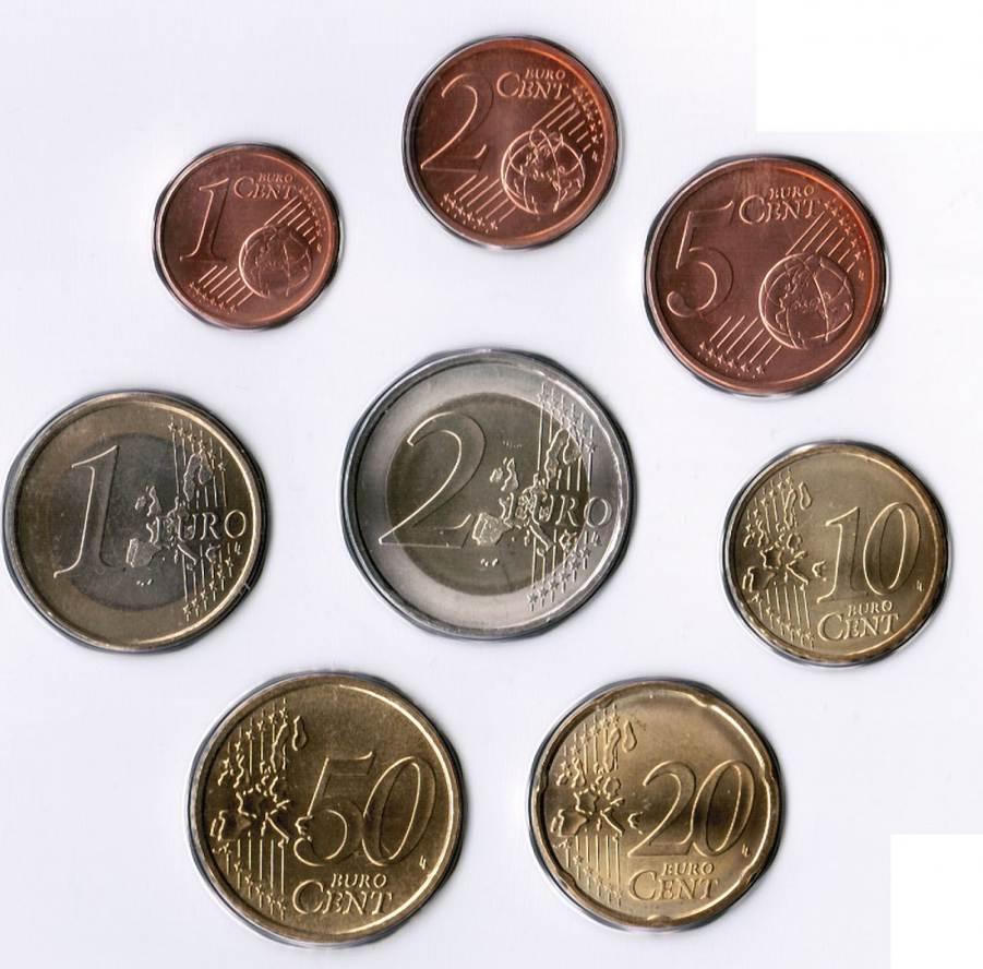 1 Cent Bis 2 Euro 1999 Belgien Belgien 1 Cent Bis 2 Euro 1999