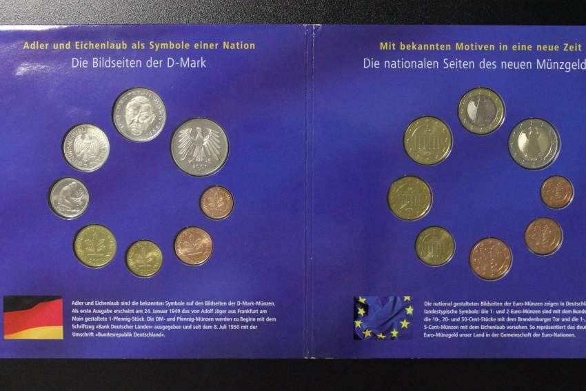 Kombi Satz Dm Euro 2001 2002 Brd Der Währungswechsel Kombisatz