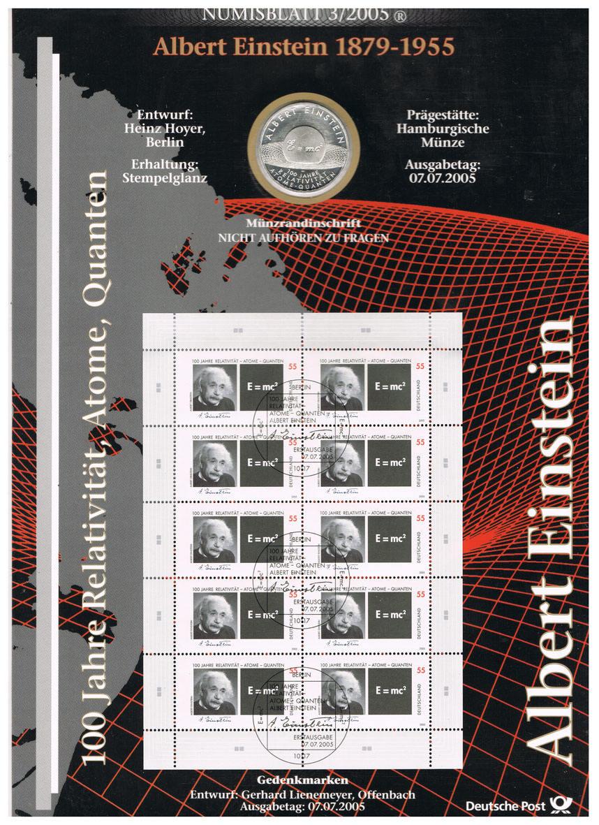 10 Euro 2005 Brd Deutschland Numisblatt 32005 Mit 10 Münze I