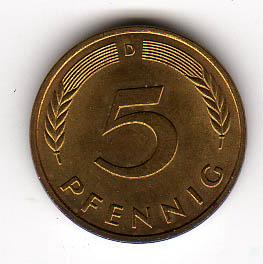 5 Pfennig 1950 D Brd Deutschland 5 Pfennig Kursmünze 1950 D Fast