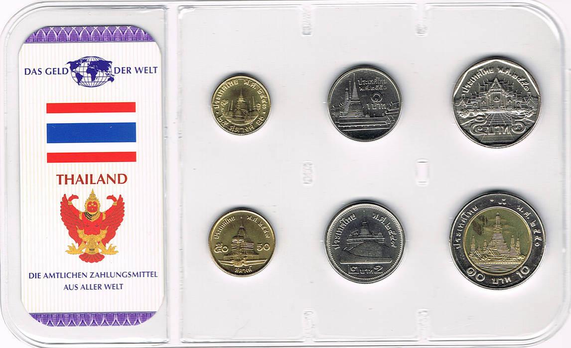 Kursmünzensatz 6 Münzen Div Jahrgänge Thailand Thailand