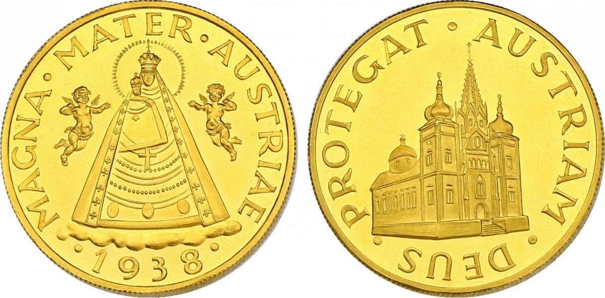 Au Medaille 1938 1963 Np österreich Magna Mater Austriae