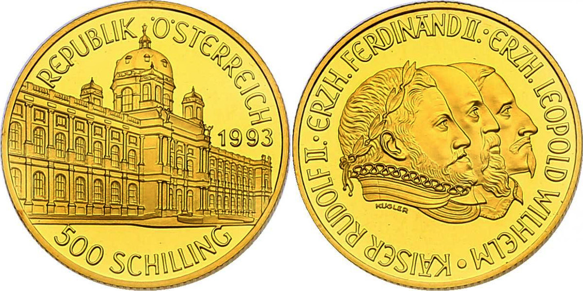 500 Schilling 1993 österreich Ii Republik Serie Millenium Serie 996 1996 Rudolf Ii Fb Im Originaletui Mit Zertifikat