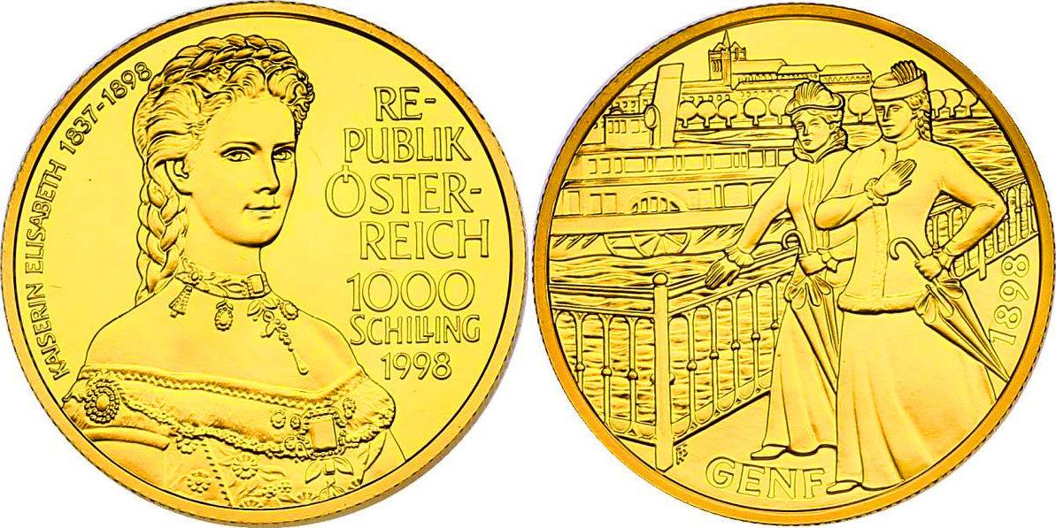 1000 Schilling 1998 österreich Kaiserin Elisabeth Isissii Von