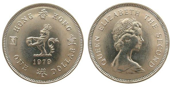 1 Dollar 1979 Hong Kong Kn Elisabeth Ii Spl Ma Shops