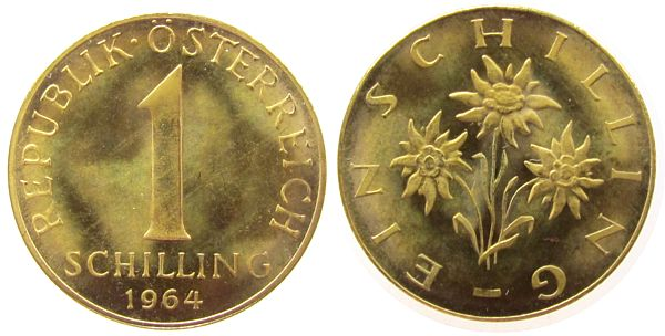 1 Schilling 1964 österreich Albr 2 Republik Spl Ma Shops