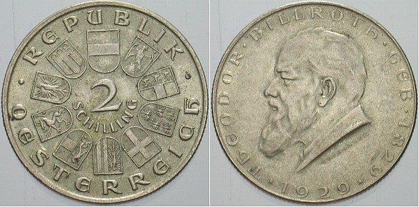 2 Schilling 1929 österreich Erste Republik 1918 1938 Sup