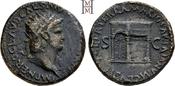 Dupondius 54-68 n. Chr. Römische Kaiserzeit Nero 54-68. Selten, gutes sehr schön