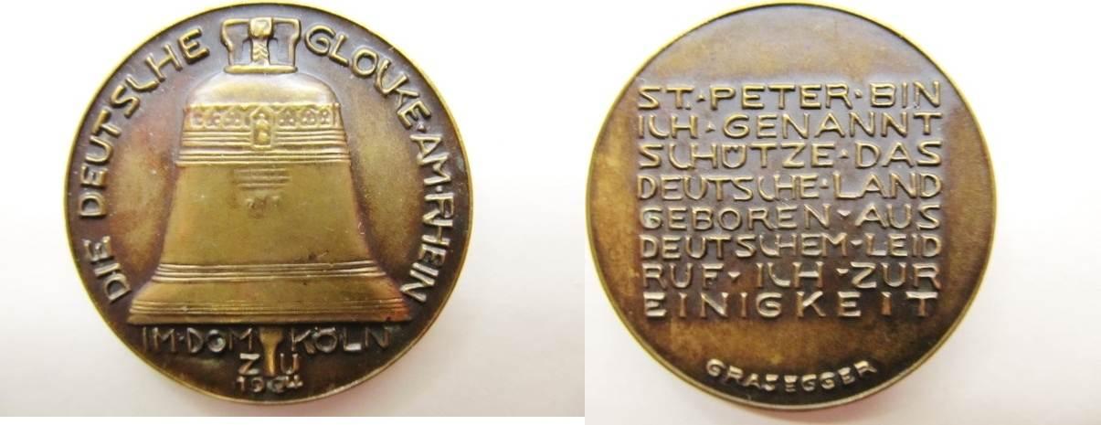 Bronze Medaille 1924 Deutsches Reich Deutschland Köln Medaille