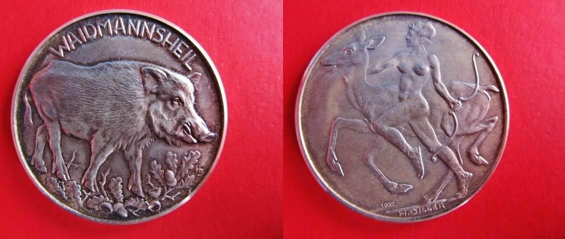 Silbermedaille Oj Medaillen Jagd Medaille Waidmannsheil