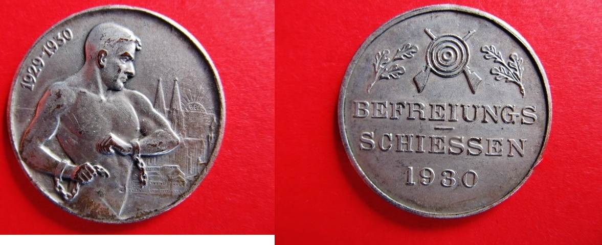 Medaille 1930 Köln Schützenwesen Medaille De Tir 1930 Cologne