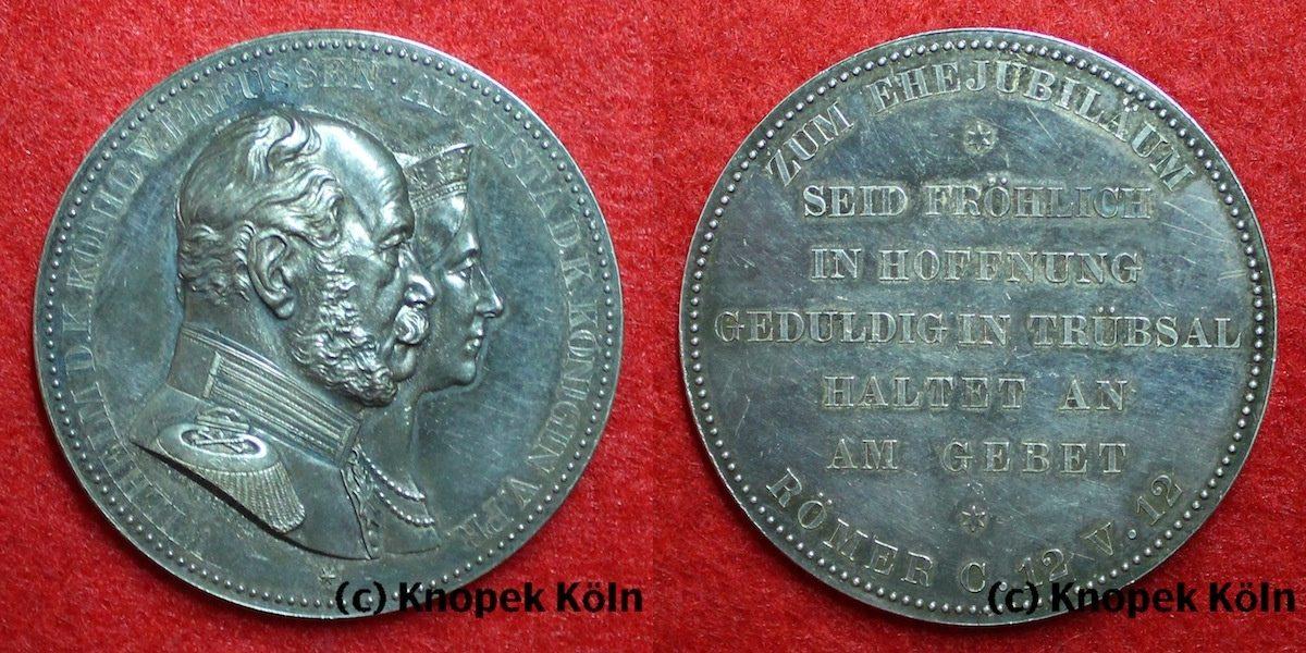 Silbermedaille Von Kullrich Oj Altdeutschland Preussen Silber