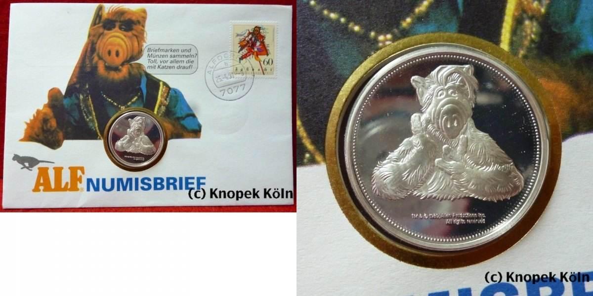 Medaille 1991 Brd Im Numisbrief Medaille Zur Alf Tv Serie Alien