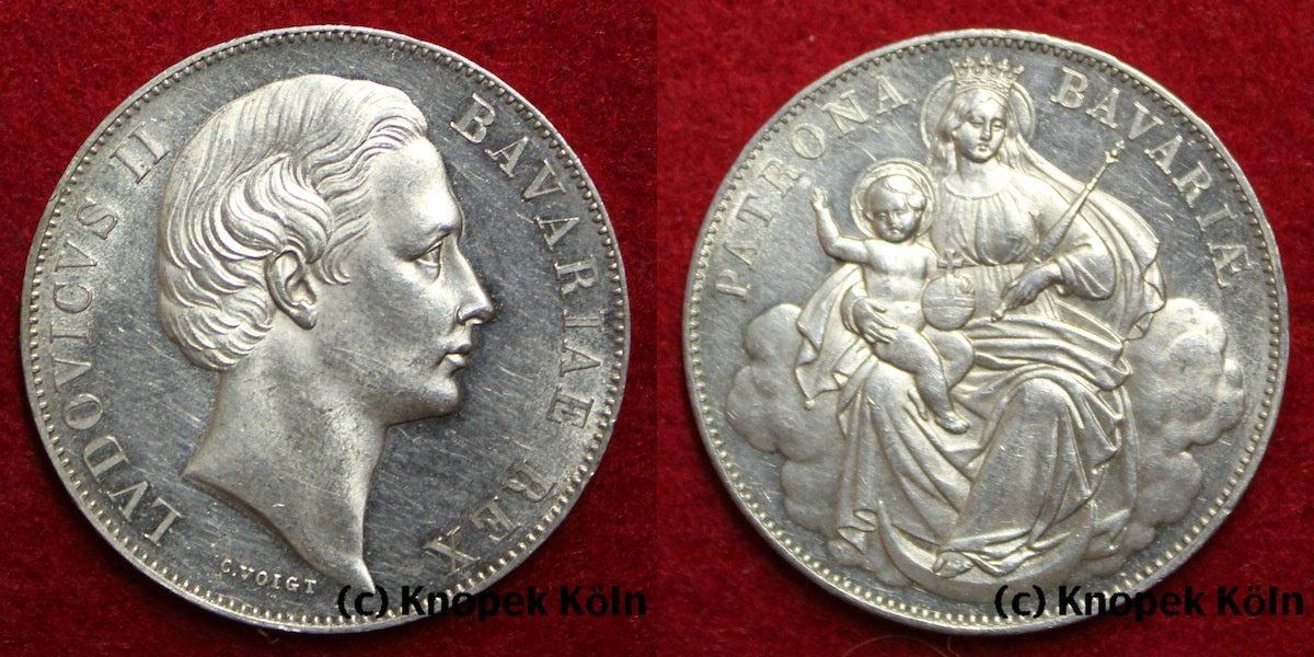 Vereins Taler 1865 Bayern Thaler König Ludwig Ii 1864 1886