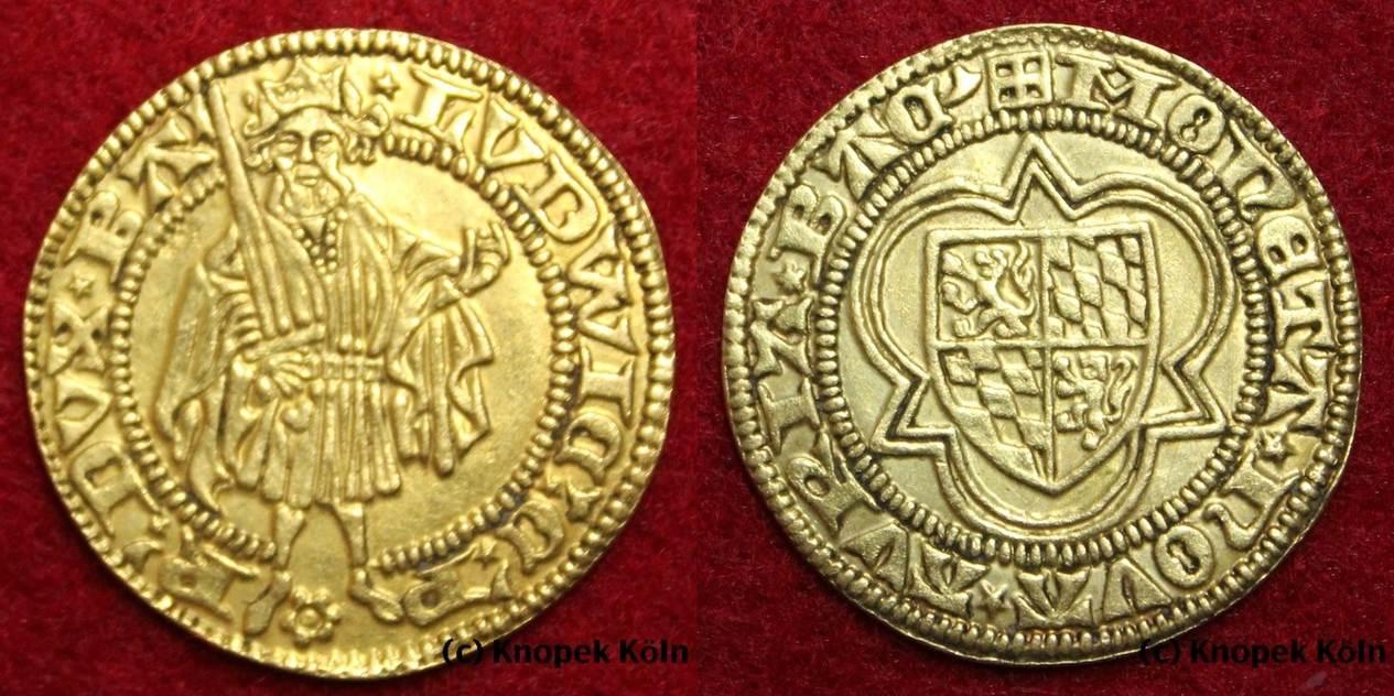 Goldgulden O Jg Pfalz Gold Gulden Pfalzgraf Graf Ludwig Iii 1410