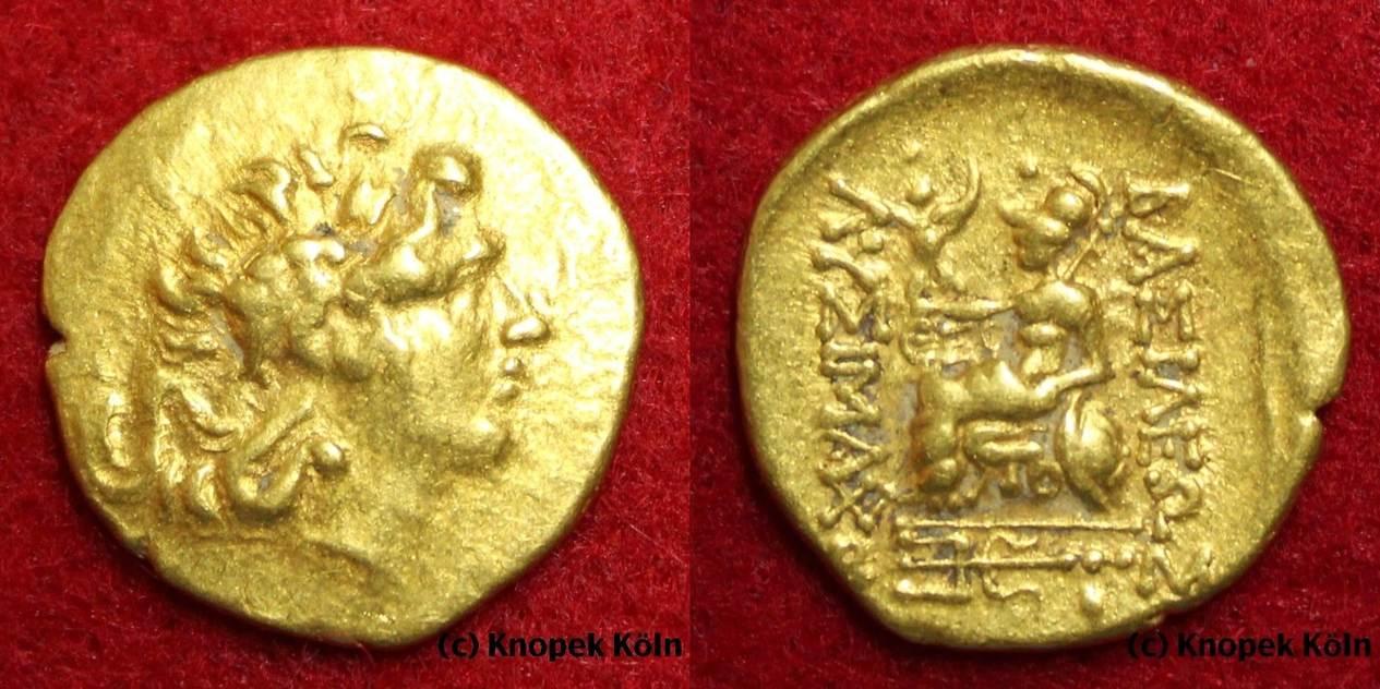 Goldmünze O J Thrakien Thrakisches Königreich Lysimachos 323