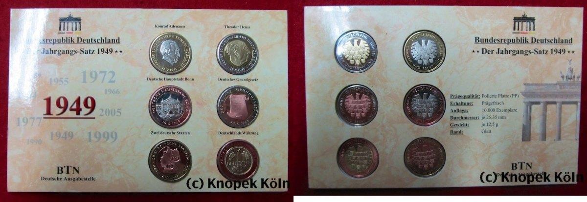 Medaillen Set 6 St Im Blister O J Brd Der Jahrgangs Satz 1949