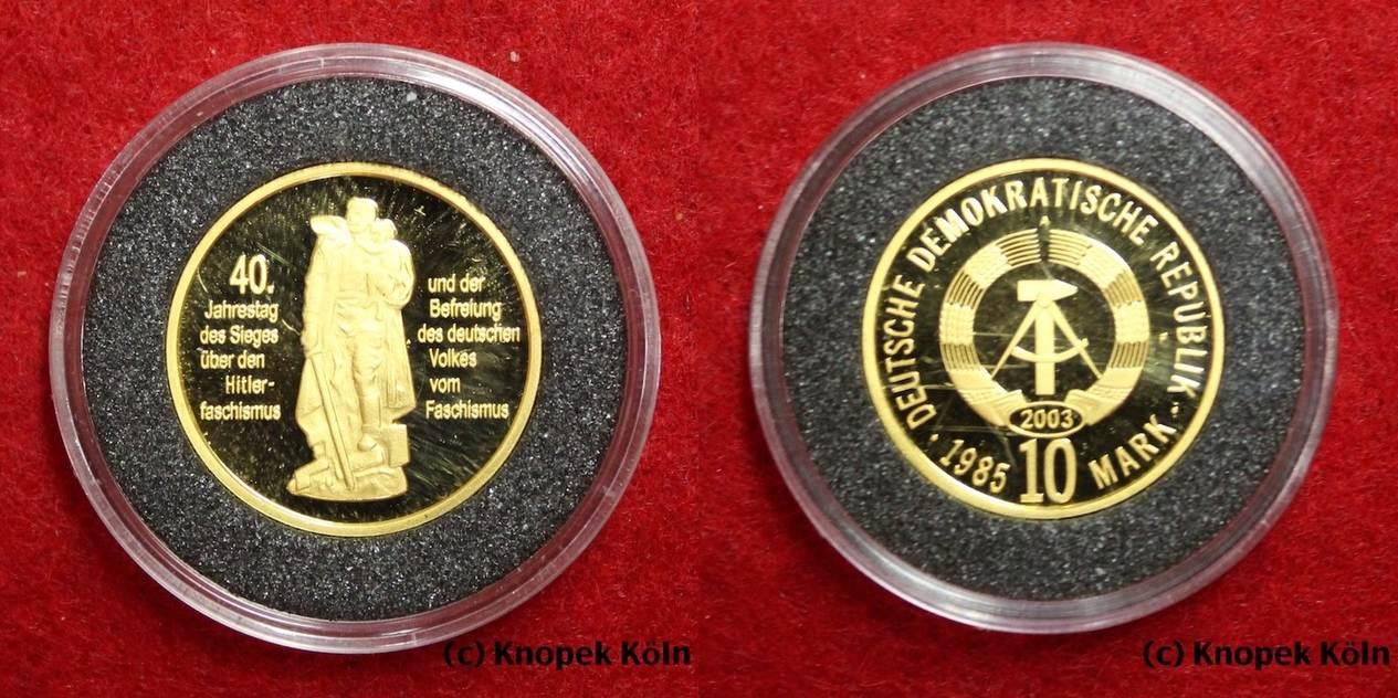 10 Mark Gold 2003 Np Ddr Befreiung Vom Faschismus Ihonecker Gulden