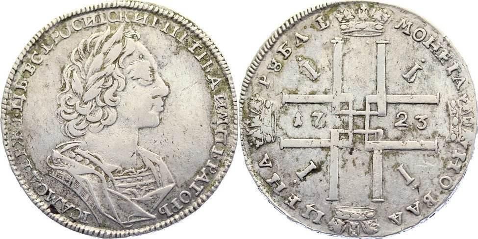 Rubel 1723 Russland Peter I Der Große 1689 1725 Sehr Schön Ma Shops