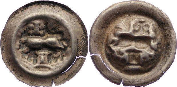 Brakteat 1252 1279 Braunschweig Herzoglich Welfische Münzstätte
