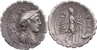 Römische Republik Denar 82 v. Chr. ss, schöne Pati