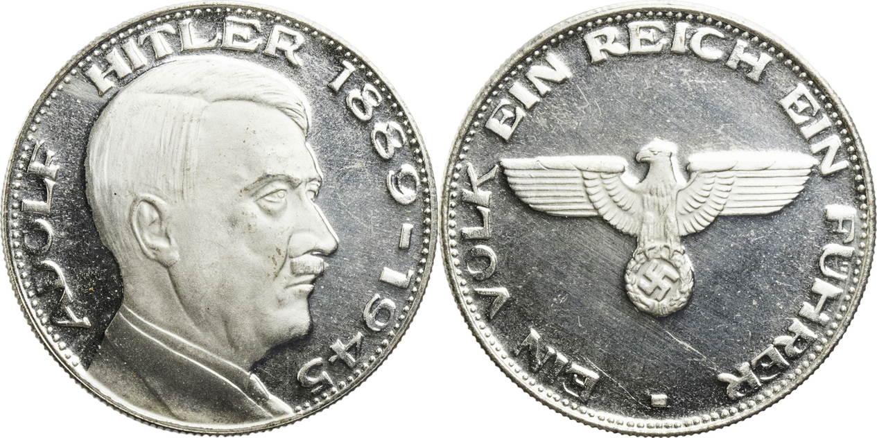 Medaille 1889 1945 Deutschland Drittes Reich Auf Adolf Hitler Sup