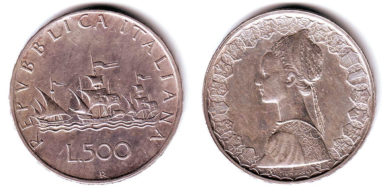 500 Lire 1960 Italien Flotte Des Kolumbus Ttb Sup Ma Shops