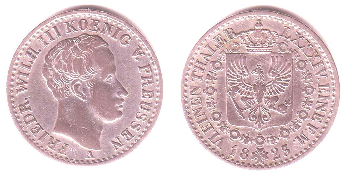 16 Taler 1823 A Brandenburg Preussen König Friedrich Wilhelm Iii