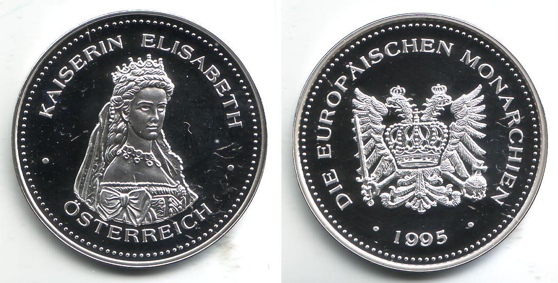 Medaille Versilbert 1995 Deutschland Silbergedenkprägung Kaiserin