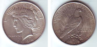 1 Dollar 1924 Usa Silbermünze Peace Spl Ma Shops