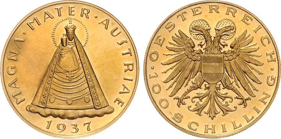 100 Schilling 1923 österreich Mariazell Magna Mater Austriae Sup