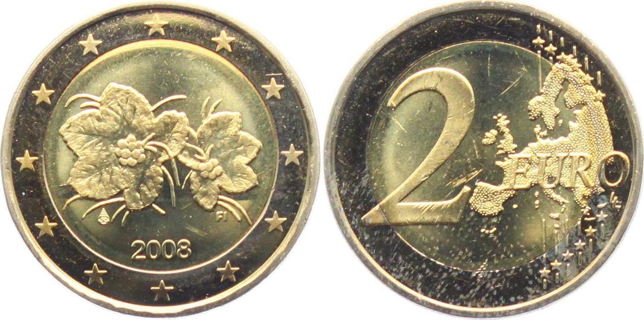 2 Euro 2008 Finnland Moltebeere Blume Spl Ma Shops