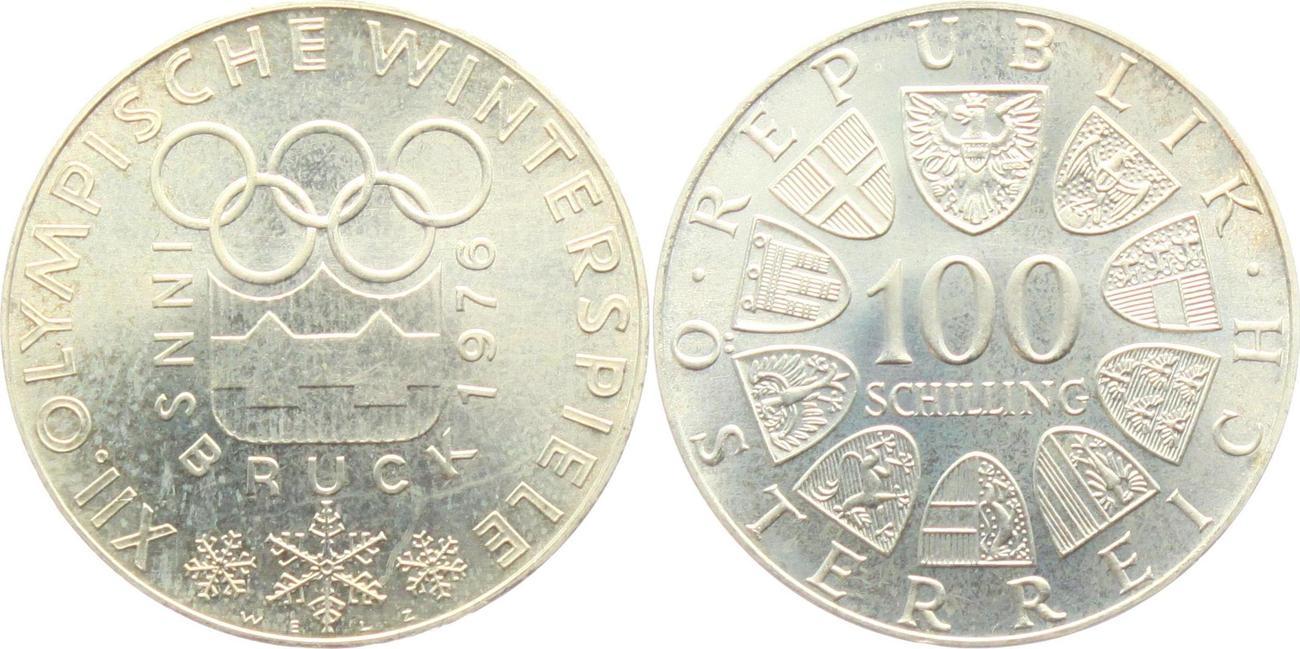 100 schilling 1976 sterreich olympia 1976 in innsbruck. Black Bedroom Furniture Sets. Home Design Ideas